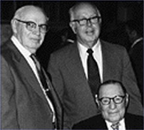 Left to right: Founders William A. Smith, Ray Elliot and Leopold Meyer in 197